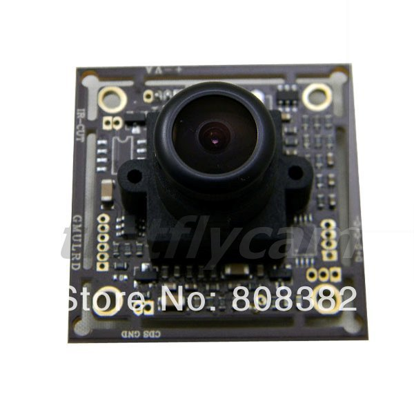 """New DIY 600TVL 1/3"""" Sony CCD Nextchip 2.8mm Wide Angle Fisheye Lens CCTV Security Home PCB Board FPV Color Camera Free Shipping(China (Mainland))"""