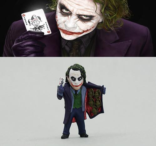 Action figure toys Batman The Dark Knight Joker Heath Ledger Joker action toys 5cm