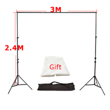 High Quality 3M x2.4M Photo Studio Aluminum Photography Backgrounds Backdrop Support System Stands with Free Backdrop x 1