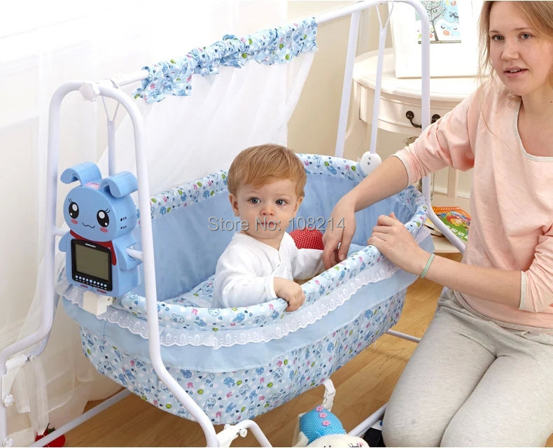 Wholesale and Retail Factory Direct Cheap Baby Swing Cribs Automatic Swing Electric Baby Cradle/Baby Funiture Baby Sleeping Bed<br><br>Aliexpress