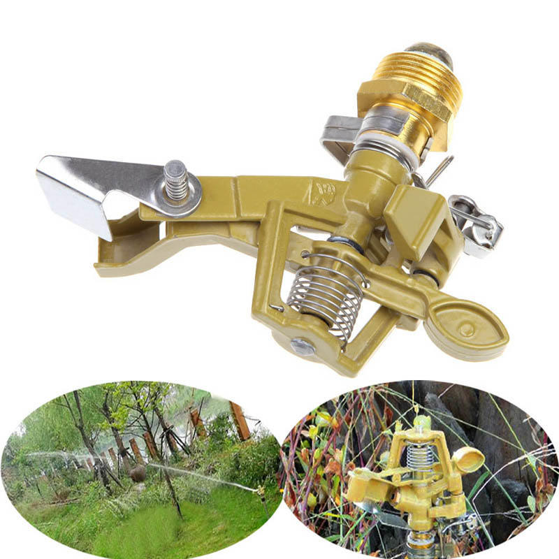 High Quality Alloy Impact Sprinkler Garden Lawn Watering Irrigation Spray Head Free Shipping NVIE(China (Mainland))