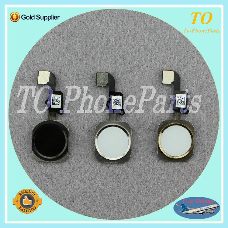 """DHL Free Shipping Org And New Home Button Flex Cable with Touch ID Sensor For iPhone 6 (4.7"""") / Plus (5.5"""") Black White Gold(China (Mainland))"""
