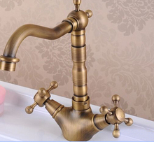 hot sale Antique Bronze Finish 360 Degree Swivel Brass bathroom Sink Mixer Bath& kitchen taps Faucet