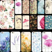 Super Advanced Painted Flower Silicon Cover Case For Apple iPhone 4 iPhone 4S iPhone4S Cases Phone Shell ADH MDN UWA RTQE