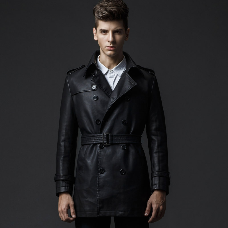 2015 New Rushed Fashion Motorcycle Jacket Men PU Leather Jackets Water Wash Vintage Thick Warm Winter Military Mens Trench CoatОдежда и ак�е��уары<br><br><br>Aliexpress