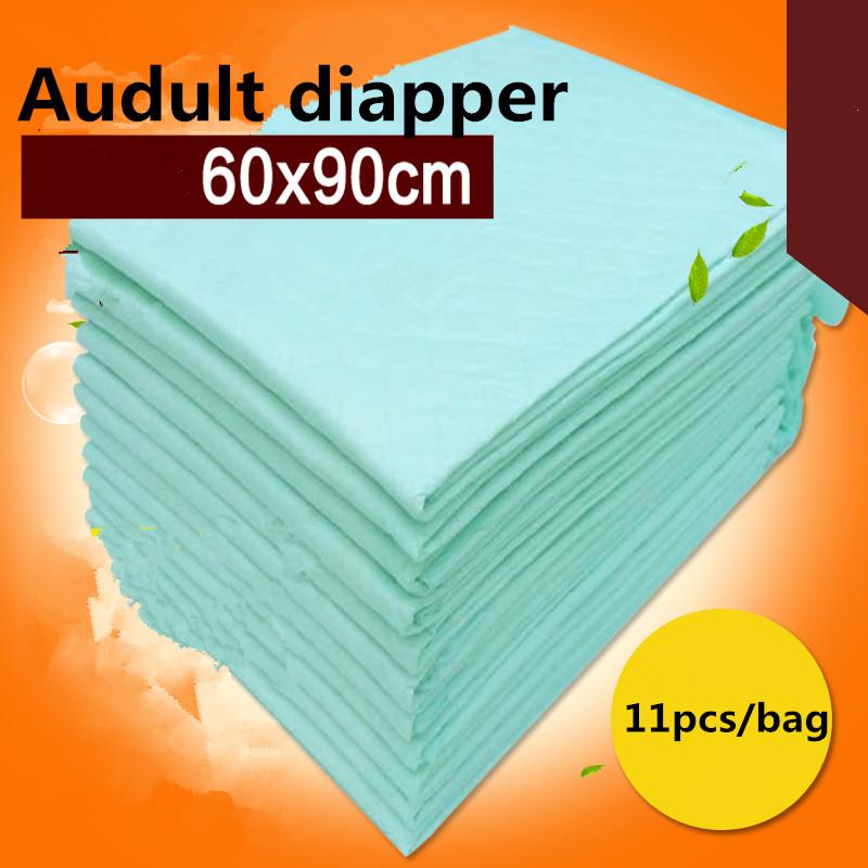 11pcs/lot Adult nursing pad 60x90cm dispoable urine pad adult diaper Absorbent Underpad