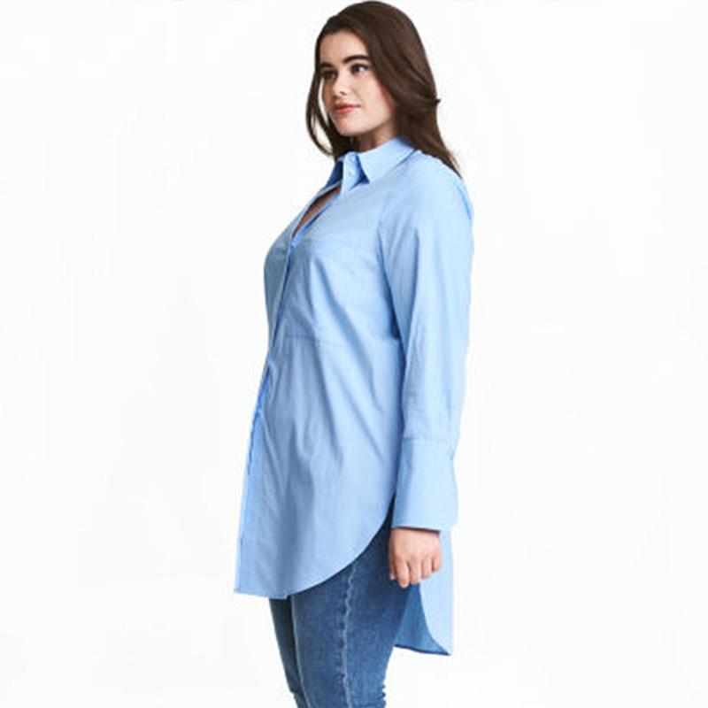 Popular blue collar work clothes buy cheap blue collar for Plus size light blue shirt