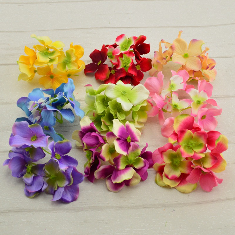 Decorative head hydrangea rayon silk flower simulation DIY flower head home decoration wedding flower bridal bouquets