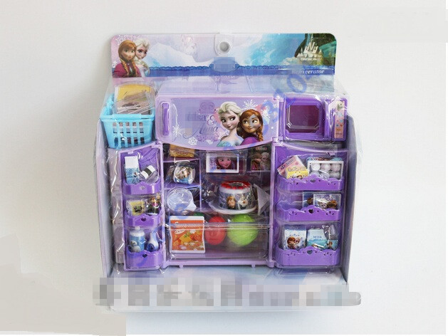 Mini simulation kitchen toys set anna elsa cartoon theme for Kitchen set for 1 year old