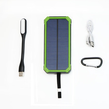 X-DRAGON 15000mAh Solar Battery Charger Power Bank Dual USB Portable Solar Charger for Samsung Galaxy, Gopro Camera, GPS & More