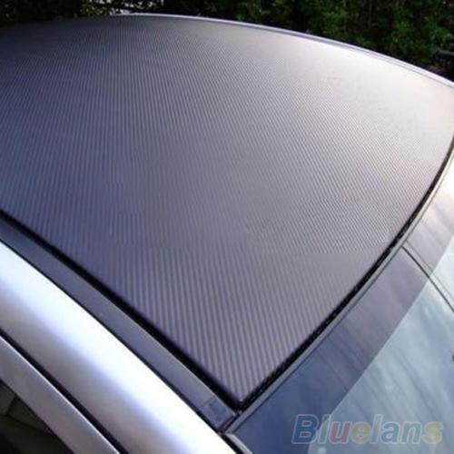 Гаджет  3D Carbon Fiber Black Vinyl Film Sheet Wrap Roll Auto Car DIY Decor Sticker  1ORX None Автомобили и Мотоциклы
