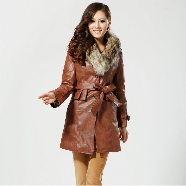 Кожаные Пальто С Мехом