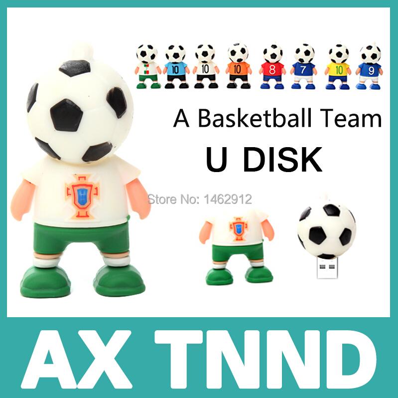 Pen drive Hot sale Cute Football head usb flash drive 4G 8G flash memory stick pendrive USB2.0 u disk pendrive(China (Mainland))