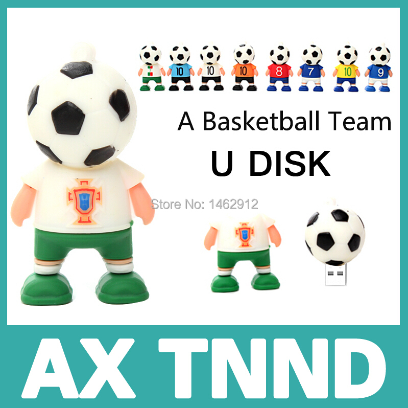 Pen drive Hot sale Cute Football head usb flash drive 4G 8G flash memory stick pendrive USB2.0 u disk pendrive(China (Mainland))