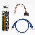 Golden 50cm USB 3 0 PCI E Express 1x To 16x Extender Riser Card Adapter SATA