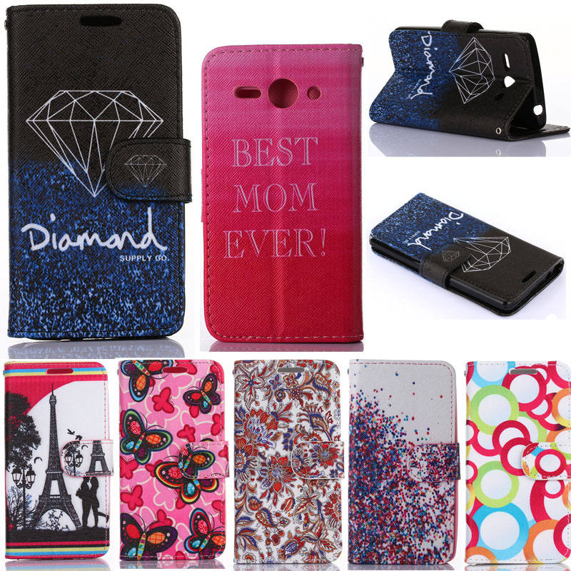 Huawei Ascend Y530 Wallet Cases Luxury PU Leather Flip Case Cell Phone Cover For Huawei Ascend Y530 With Card Holder & Stand