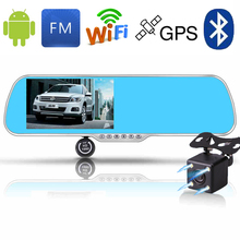 Car Navigator Android DVR Mirror Rearview Camera Bluetooth Handfree WIFI Transmitter 5.0 Inch Touch Display HD 1080P Recorder(China (Mainland))