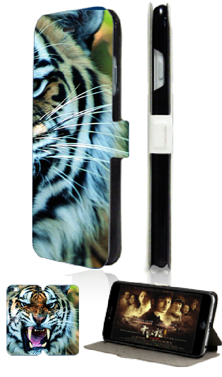 butterfly rose tiger retail hot sell luxury new 2 slot card wallet leather moible phone bag for ipod touch 4 4th free ship(China (Mainland))