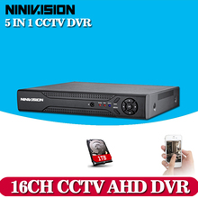 Buy 16 Channel AHD DVR 1080N DVR 16CH AHD AHD-NH Support 1920*1080 2.0MP Camera CCTV Video Recorder DVR NVR HVR Security System for $181.61 in AliExpress store