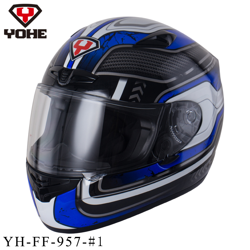 YOHE 2016 Safety Racing Helmet Unisex Full Face Helmet Fiberglass Ece Dot Snell Motorcycle Helmet Free Shipping 957(China (Mainland))