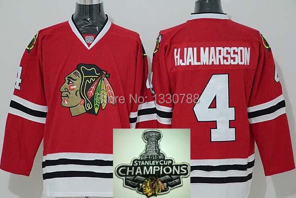 2015 Chicago Blackhawk Jersey #4 Niklas Hjalmarsson Black Winter Classic 100% Stitched Cheap Ice Hockey Jerseys Authentic