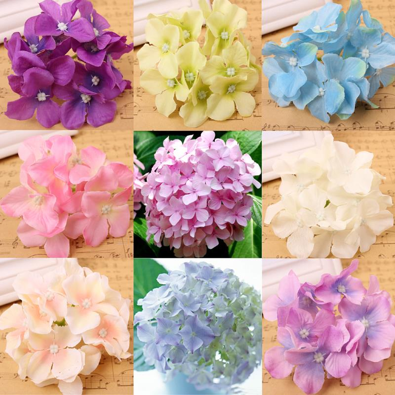 High quality Hydrangea Flower BIG 4.5cm simulation DIY silk cloth flower bouquet Wedding decoration flower arch material(China (Mainland))