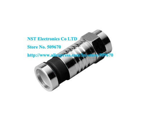 Free Shipping /10pcs/ RG6 F CONNECTOR COAX COAXIAL COMPRESSION FITTING Push & Seal F-Connector - RG6 Connector Adapter(China (Mainland))