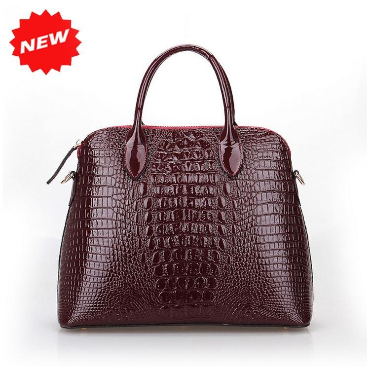 2015 Hot Sale Women's Luxury designer handbag Tote Shoulder Messenger Bags, With Rose Genuine Leather Crocodile Prints Q0294(China (Mainland))