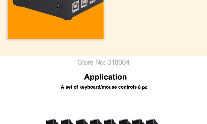 MT-VIKI MT-KM108-U 8 ports KVM switch USB synchronizer 8 ports synchronous controller a set of keyboard/mouse control 8 PC