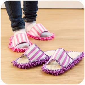 JJ199 Women's Men's Novelty Dust Mop Slippers Sock Microfiber Funny House Slipper Bedroom Footwear Accessories Supplies Products(China (Mainland))