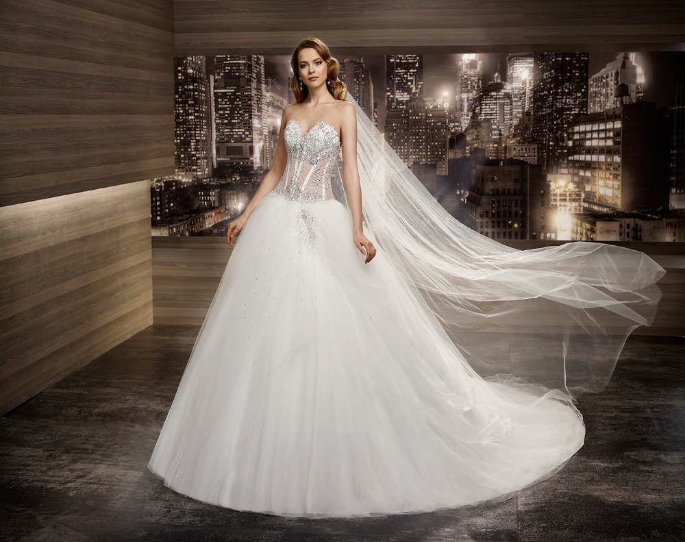 2016 ball gown wedding dresses lace up sexy see through for See through wedding dresses
