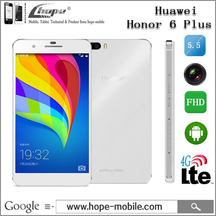 "Original 5.5"" Huawei Honor 6 Plus 4G LTE Mobile Phones Hisilicon Kirin 925 Octa Core Android 4.4 Dual SIM 8.0MP Camera 3GB RAM(China (Mainland))"