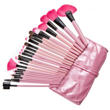 2014 HOT Sale Professional 24 pcs Makeup Brush Set tools Make-up Toiletry Kit Wool Brand Make Up Brush Set Case free shipping