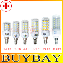 E14 LED lighting 5730 9W 12W 15W 20W E14 led lamp Warm White/ white,220V/110V 24LEDs 36LEDs 48LEDs 56LEDs 5730SMD Led bulb Light