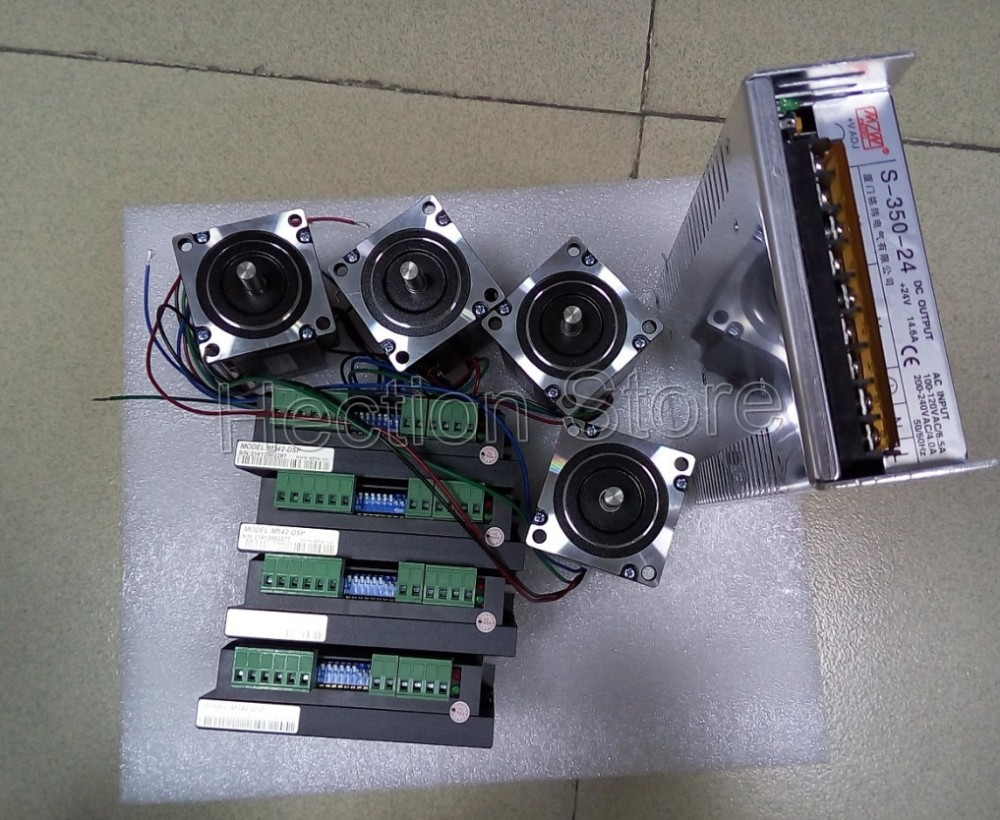 4 axis cnc control system include 4 pcs stepper motor nema for Stepper motor control system