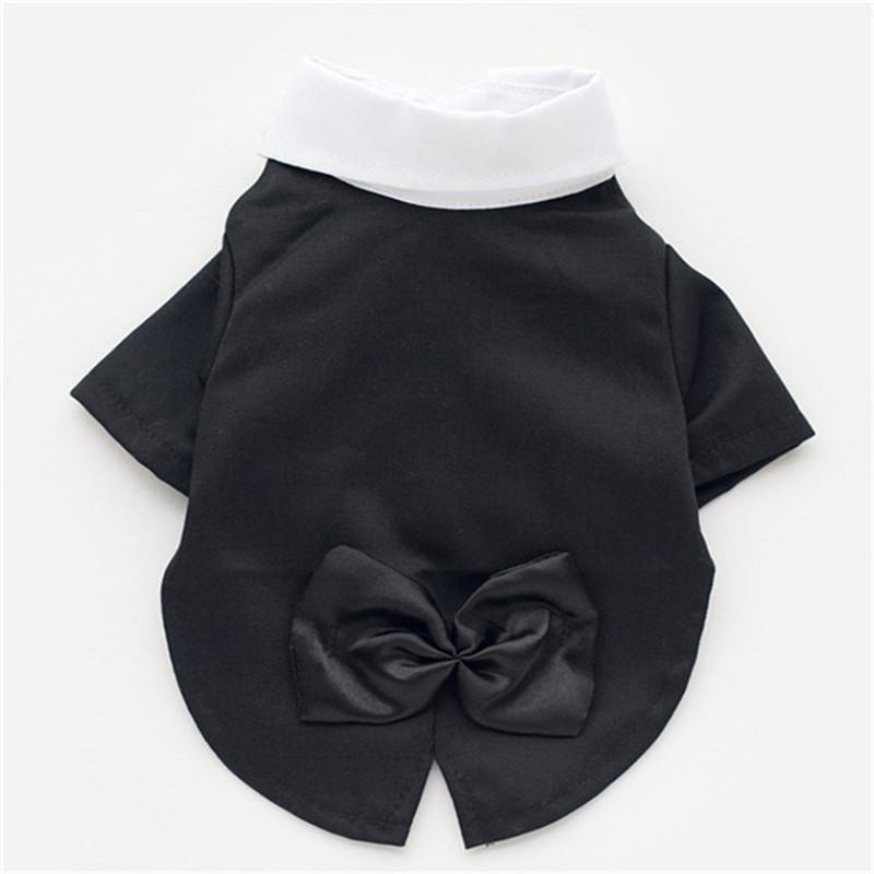New Black Winter Cotton Pet dog Wedding Suit Puppy Clothing Small dog coat Free Shipping(China (Mainland))