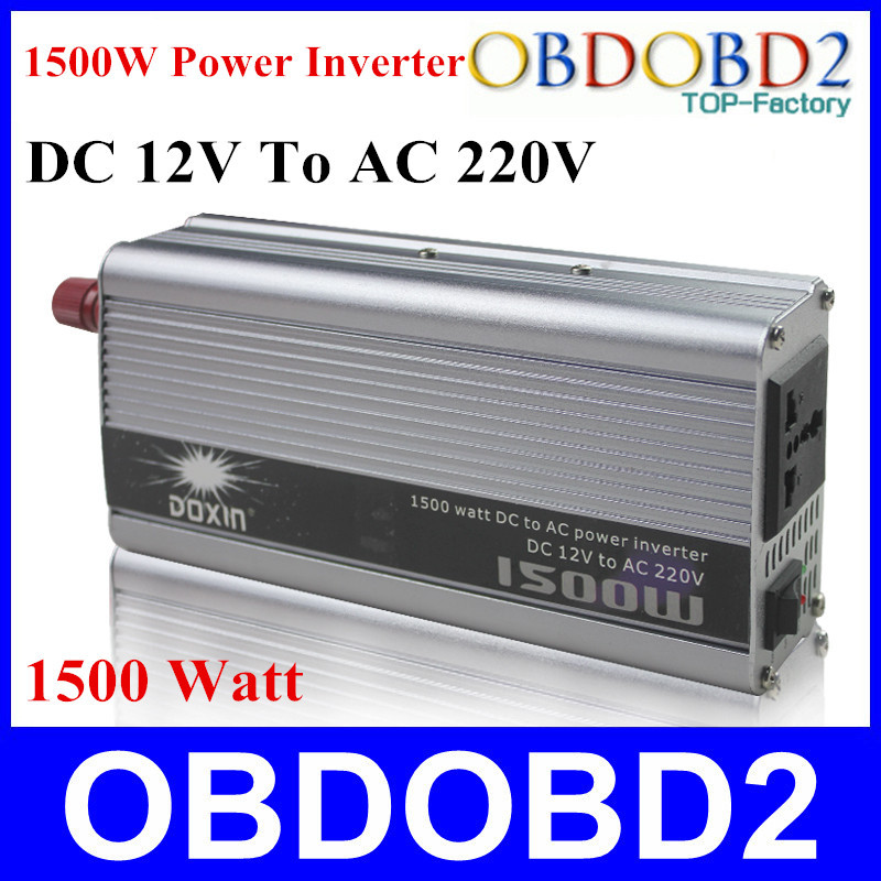 Best Quality 1500W Power Inverter 1500W Doxin Voltage Regulator Charger Household DC 12V to AC 220V 1500 Watt Converter(China (Mainland))