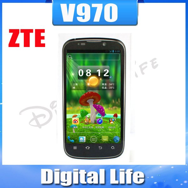 Holiday Sale Original Unlocked ZTE V970 3G Mobile Phone 4.3 inch QHD Screen 1GB RAM 4GB ROM Multi-language Russian menu(China (Mainland))