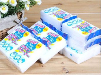 12 pcs/pack 10cmX6cmX1.3cm White Kitchen Magic Cleaning Sponge Eraser WITHOUT PACKAGE (KA-22)