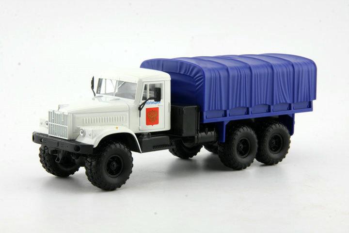 Cheap 1:43 Russian off-road military vehicles MAZ KRAZ Model white Alloy Truck Model(China (Mainland))