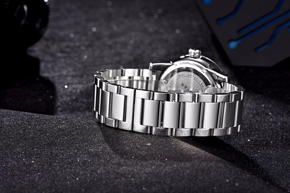 Высокое Качество Нержавеющей Стали Часы Мужчины Роскошные Спортивные Часы Мужчины Бизнес Водонепроницаемый Кварцевые Наручные Часы Мужчины Часы relojes hombre