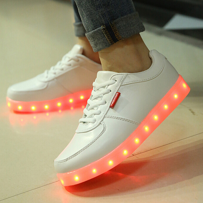 new unisex led shoes fashion light up shoes for adults 7