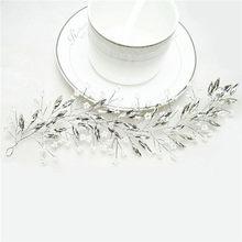 2019 Western Wedding Fashion Headdress For Bride Handmade Wedding Crown Floral Pearl Hair Accessories Hairpin Ornaments(China)
