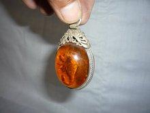 Tibet silver amber scorpion pendant & Fine jewelry,free shipping(China (Mainland))