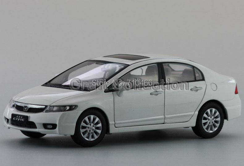 White 2009 Honda Civic 8th Generation Diecast Model Show Car Miniature Toys<br>