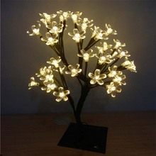 1.2m 96 LED Cristmas Cherry Flower Tree Lights Night Lights Table Lamps Garland for Home Indoor Outdoor Fairy Wedding Decoration