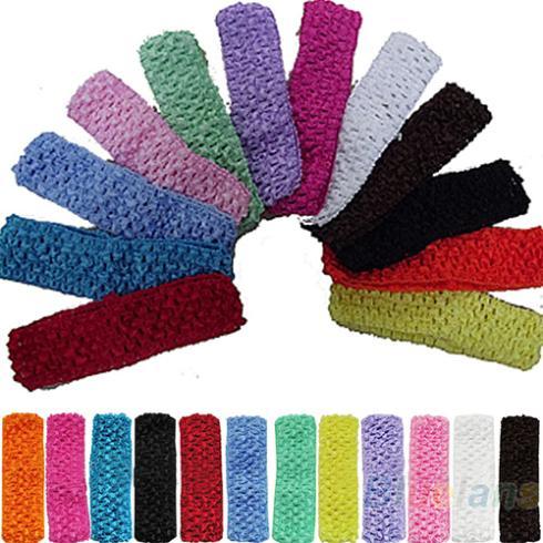 Hot Sale 12pcs Cute Crochet Headbands Hair Head Band Bow Kid Baby Girl Accessories 02DN(China (Mainland))