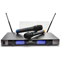 Free Shipping Professional UHF Wireless Microphone System Dual Handheld Karaoke Mic DJ KTV 2 Channel Cordless
