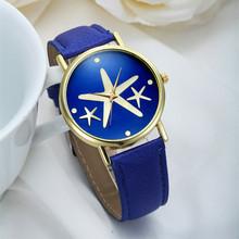 2015 New Arrival Geneva Fashion Casual Watch Generous Gold Sea Stars Dress Wristwatch Colorful Quartz Women Watches Reloj Clock