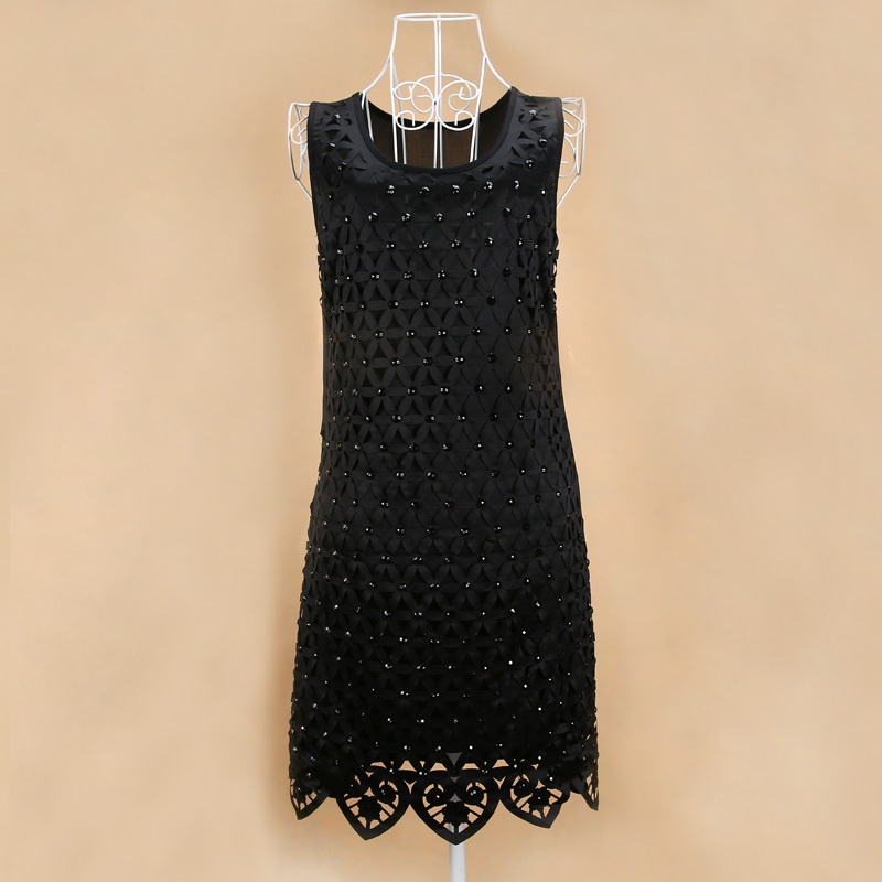 Hot Sale Elegant Handiwork Shinning Diamond Causal Dress For Women, sexy beading paillette dresses for party LM8108LS(China (Mainland))